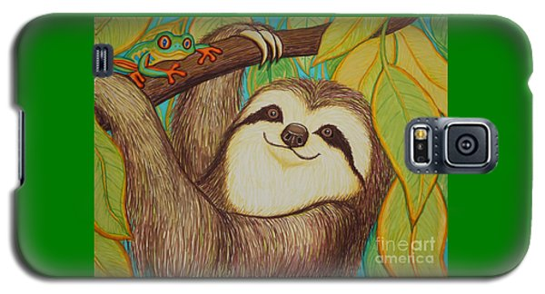 Sloth And Frog Galaxy S5 Case by Nick Gustafson