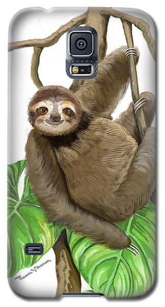 Hanging Three Toe Sloth  Galaxy S5 Case
