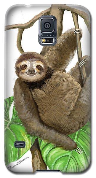 Sloth Hanging Around Galaxy S5 Case by Thomas J Herring