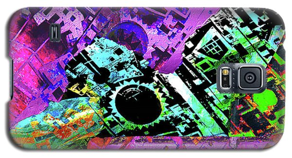 Galaxy S5 Case featuring the mixed media Slouch by Tony Rubino