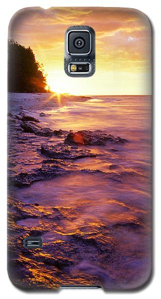 Slow Ocean Sunset Galaxy S5 Case