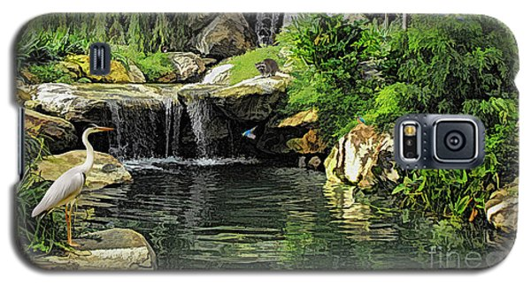 Small Creek Waterfall With Wildlife Galaxy S5 Case