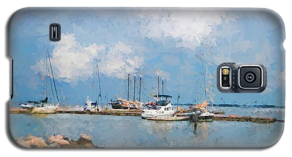 Small Dock With Boats Galaxy S5 Case