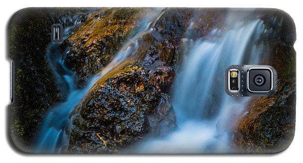 Galaxy S5 Case featuring the photograph Small Mountain Stream Falls by Chris McKenna