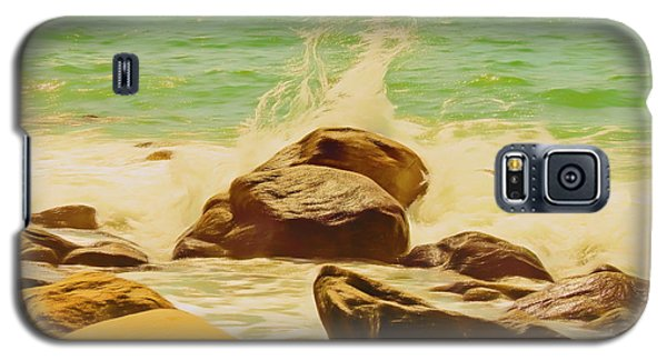Small Ocean Waves,large Rocks. Galaxy S5 Case