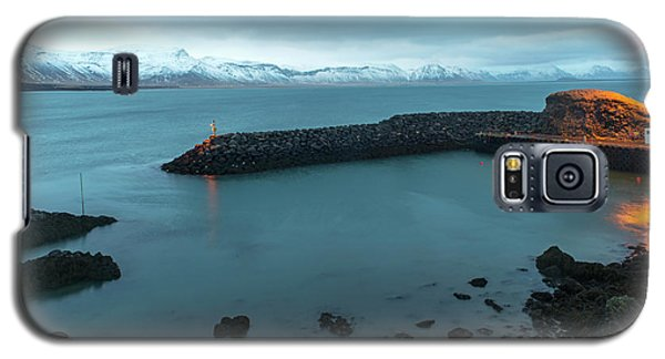 Galaxy S5 Case featuring the photograph Small Port Near Snaefellsjokull Mountain, Iceland by Dubi Roman