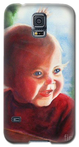 Galaxy S5 Case featuring the painting Smile by Marilyn Jacobson