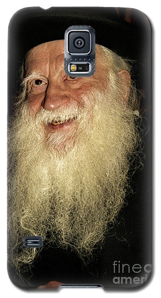 Galaxy S5 Case featuring the photograph Smiling Picture Of Rabbi Yehuda Zev Segal by Doc Braham