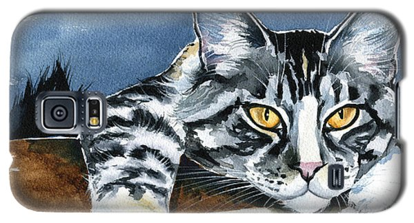 Smilla - Maine Coon Cat Painting Galaxy S5 Case