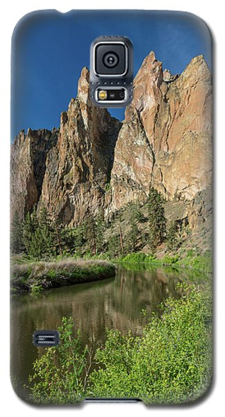 Galaxy S5 Case featuring the photograph Smith Rock Spires by Greg Nyquist