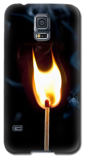 Galaxy S5 Case featuring the photograph Smoke And Fire by Tyson and Kathy Smith