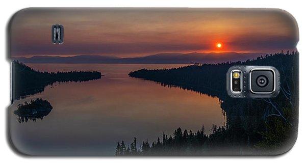 Smoke-diffused Sun At Emerald Bay Galaxy S5 Case