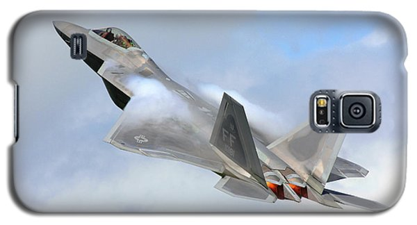 Galaxy S5 Case featuring the digital art Smokin - F22 Raptor On The Go by Pat Speirs