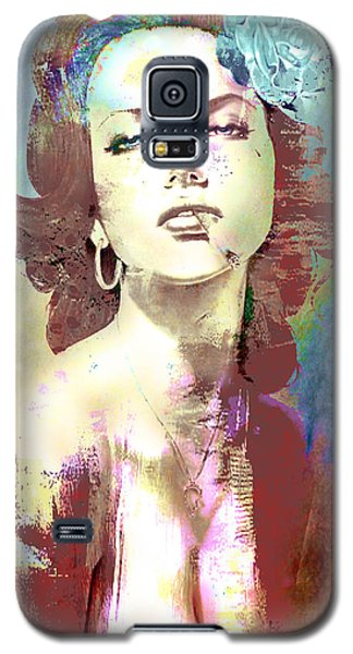 Galaxy S5 Case featuring the digital art Smoking Chick by Greg Sharpe