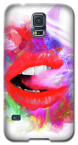 Smoking Lips Galaxy S5 Case
