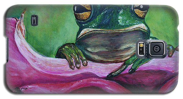 Galaxy S5 Case featuring the painting Snack Time by Debbie Baker