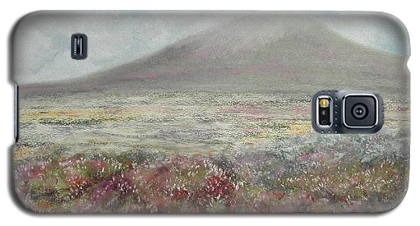 Galaxy S5 Case featuring the painting Snaefell Heather by Stanza Widen