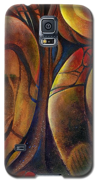 Galaxy S5 Case featuring the painting Snakes And Snails by Andrew King