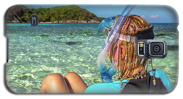 Snorkeler Relaxing On Tropical Beach Galaxy S5 Case