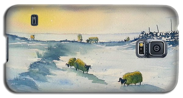 Snow And Sheep On The Moors Galaxy S5 Case