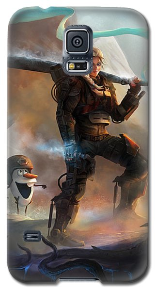 Galaxy S5 Case featuring the digital art Snow Angel Of Verdun by Steve Goad