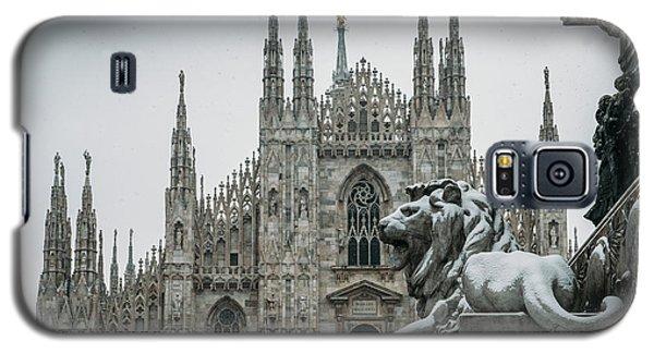 Snow At Milan's Duomo Cathedral  Galaxy S5 Case