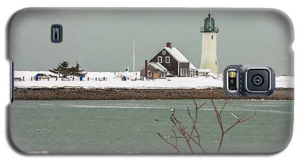 Snow At Scituate Lighthouse Galaxy S5 Case