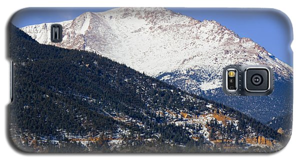 Snow Capped Pikes Peak In Winter Galaxy S5 Case