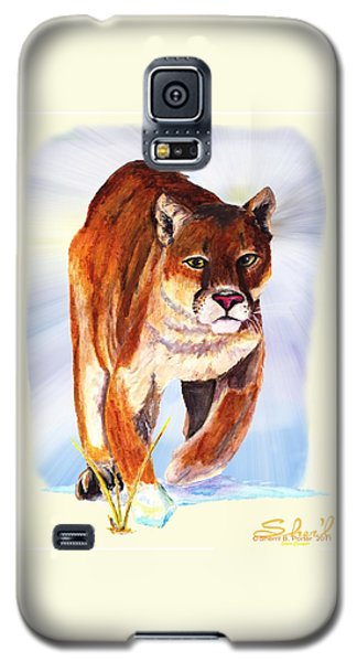 Snow Cougar Galaxy S5 Case by Sherril Porter