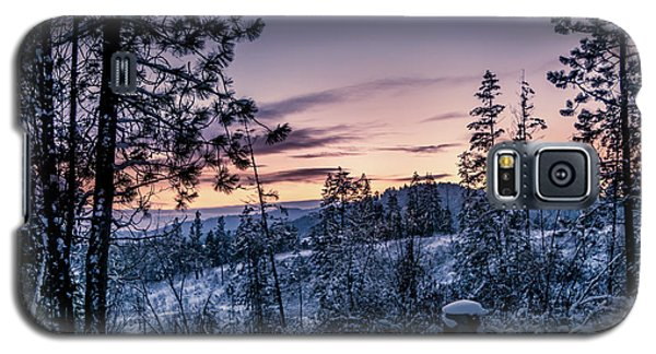 Snow Coved Trees And Sunset Galaxy S5 Case