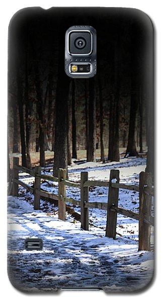 Snow Covered Bridge Galaxy S5 Case by Kim Henderson