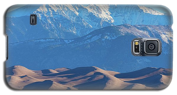 Snow Covered Rocky Mountain Peaks With Sand Dunes Galaxy S5 Case by James BO Insogna