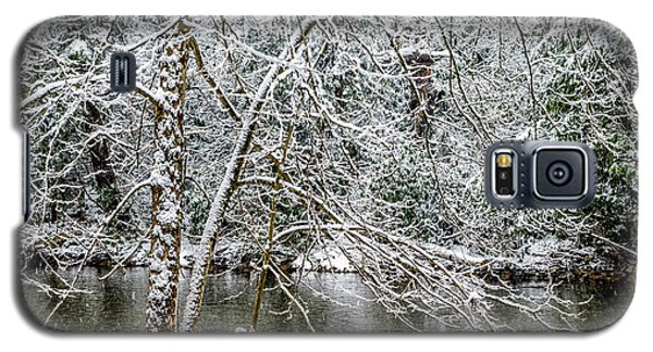 Galaxy S5 Case featuring the photograph Snow Cranberry River by Thomas R Fletcher