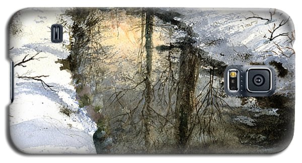 Galaxy S5 Case featuring the painting Snow Creek by Andrew King