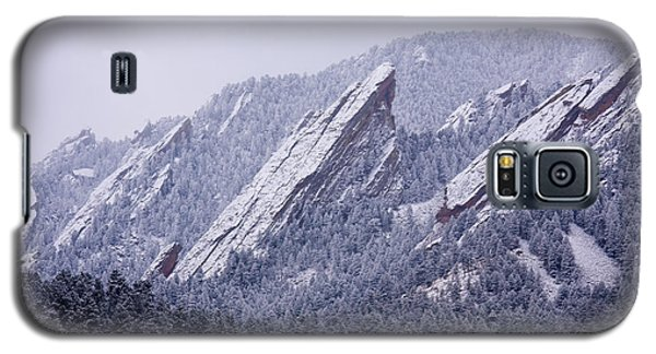 Snow Dusted Flatirons Boulder Colorado Galaxy S5 Case