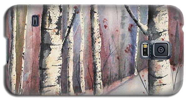 Snow In Birches Galaxy S5 Case