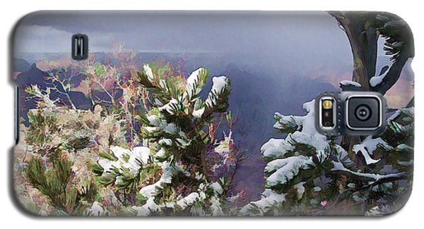 Galaxy S5 Case featuring the photograph Snow In The Canyon by Roberta Byram