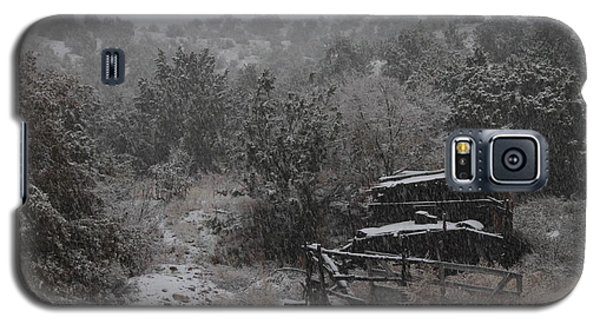 Snow In The Old Santa Fe Corral Galaxy S5 Case