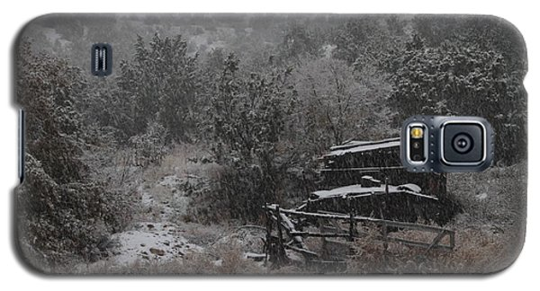 Snow In The Old Santa Fe Corral Galaxy S5 Case