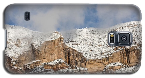 Galaxy S5 Case featuring the photograph Snow Kissed Morning In Sedona, Az by Sandra Bronstein