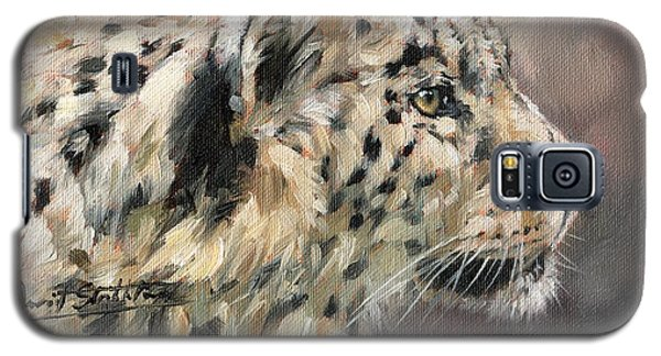 Galaxy S5 Case featuring the painting Snow Leopard Study by David Stribbling