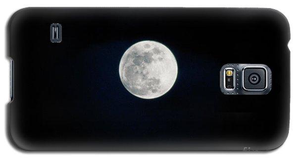 Snow Moon 4 Galaxy S5 Case by Janie Johnson