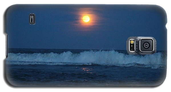 Snow Moon Ocean Waves Galaxy S5 Case