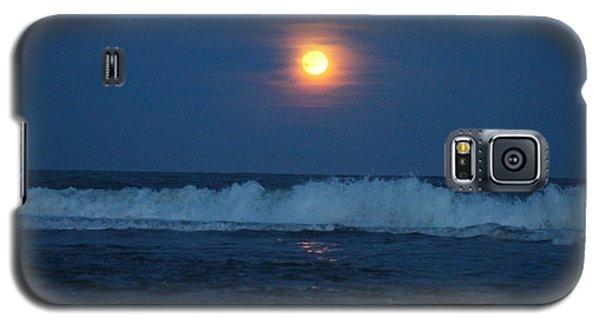 Snow Moon Ocean Waves Galaxy S5 Case