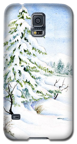 Snow On Evergreens Galaxy S5 Case