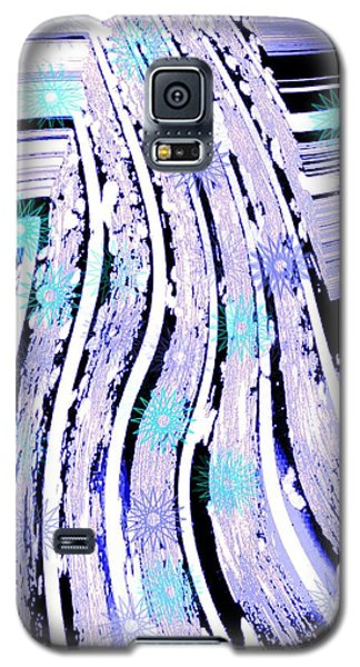 Galaxy S5 Case featuring the digital art Snow On Ski Mountain by Marsha Heiken