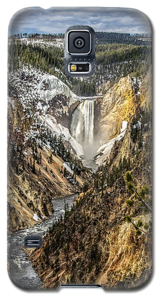 Snow On The Falls Galaxy S5 Case by Yeates Photography