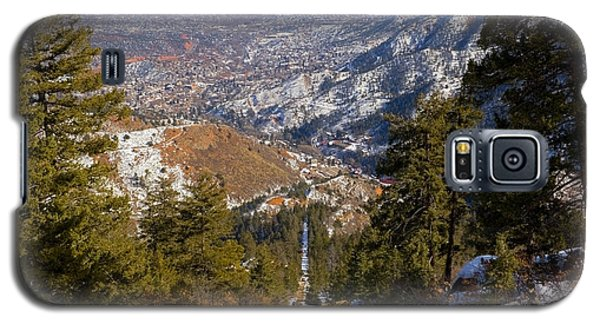 Snow On The Manitou Incline In Wintertime Galaxy S5 Case