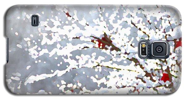 Snow On The Maple Galaxy S5 Case