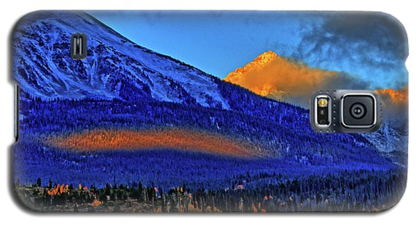 Galaxy S5 Case featuring the photograph Snow Peak Fall by Scott Mahon